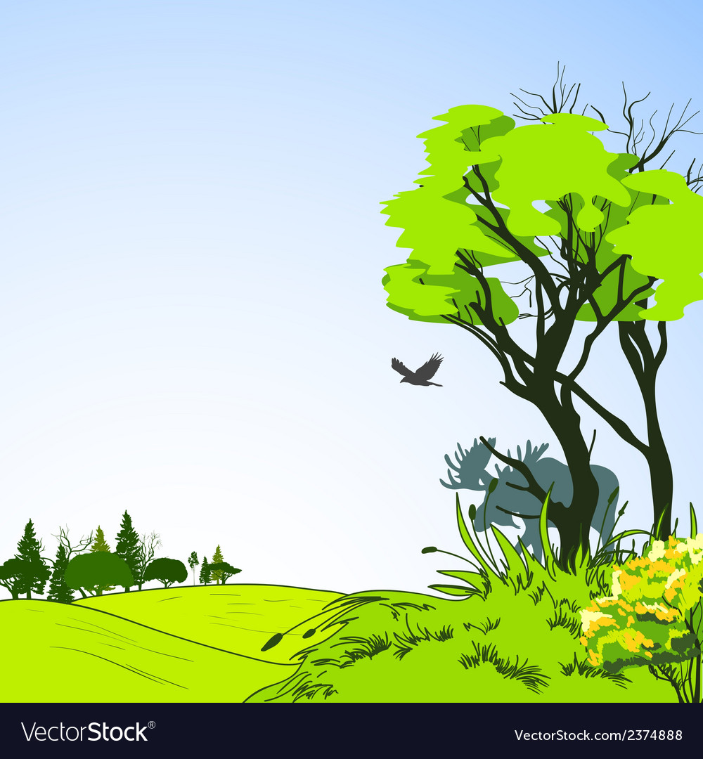 Forest sketch poster vector   Price: 1 Credit (USD $1)