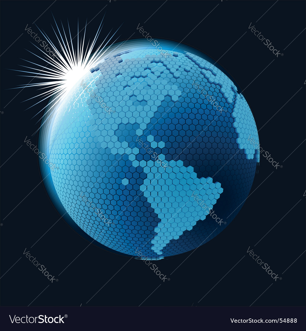 Global cellular network theme vector   Price: 1 Credit (USD $1)