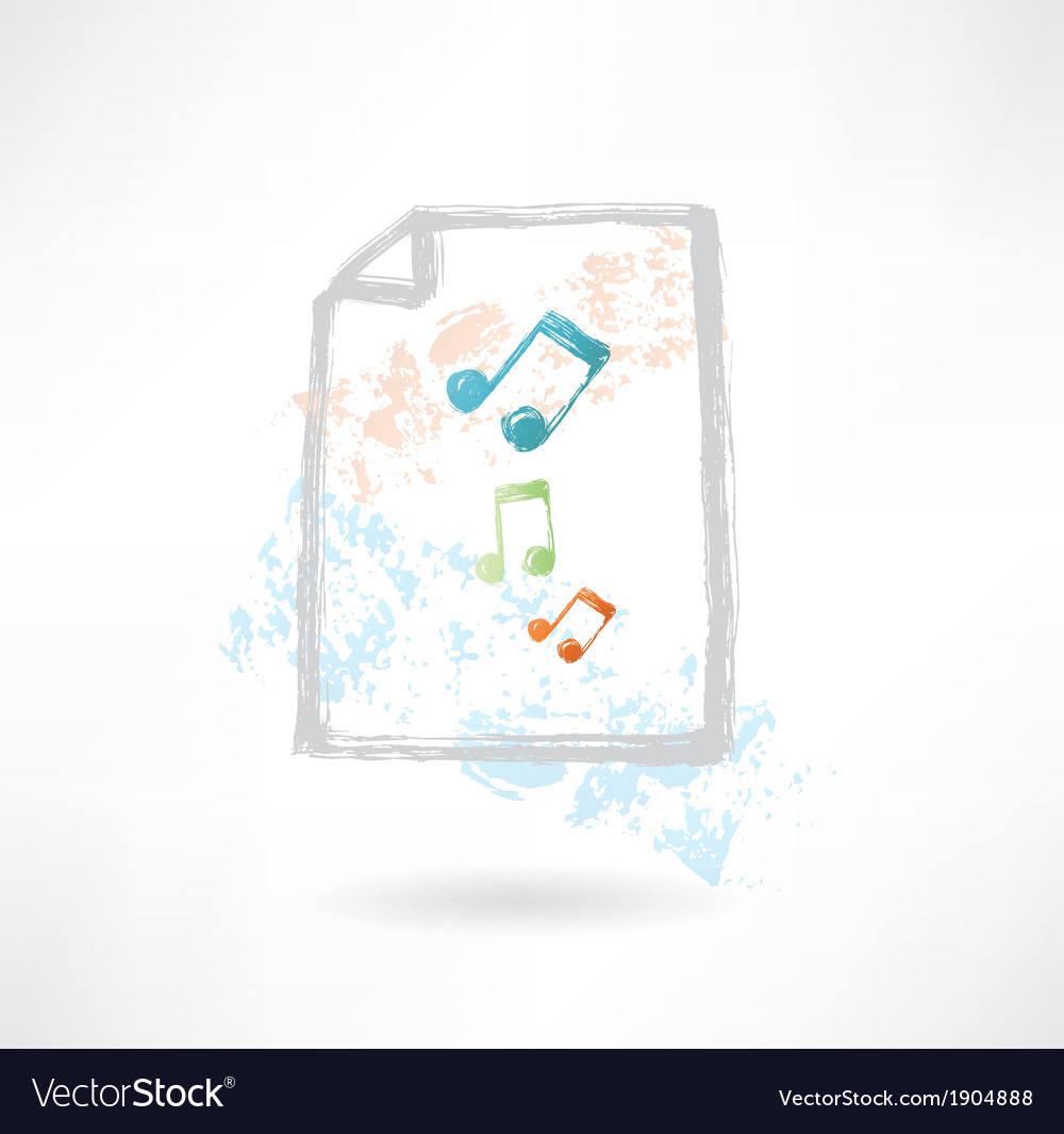 Paper music grunge icon vector | Price: 1 Credit (USD $1)