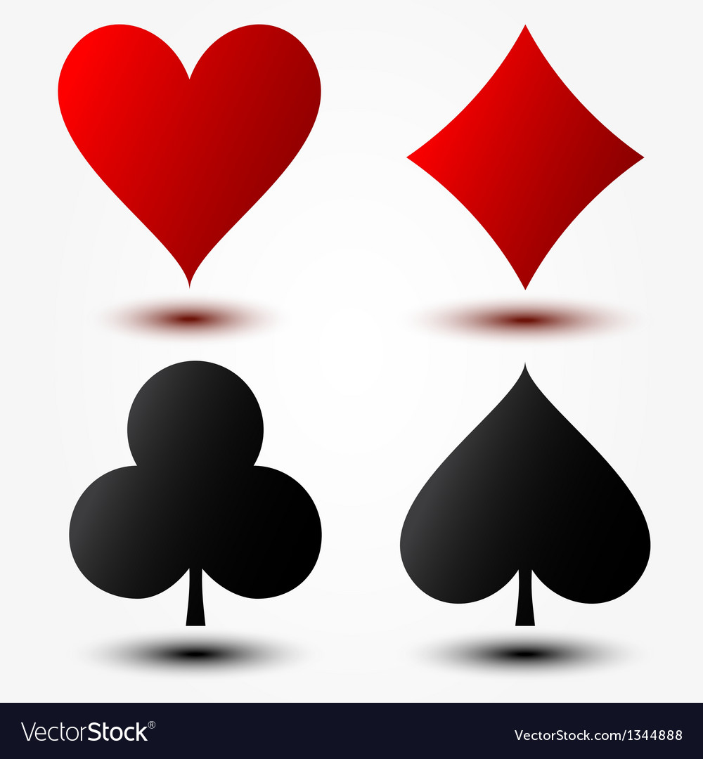Playing cards suits vector | Price: 1 Credit (USD $1)