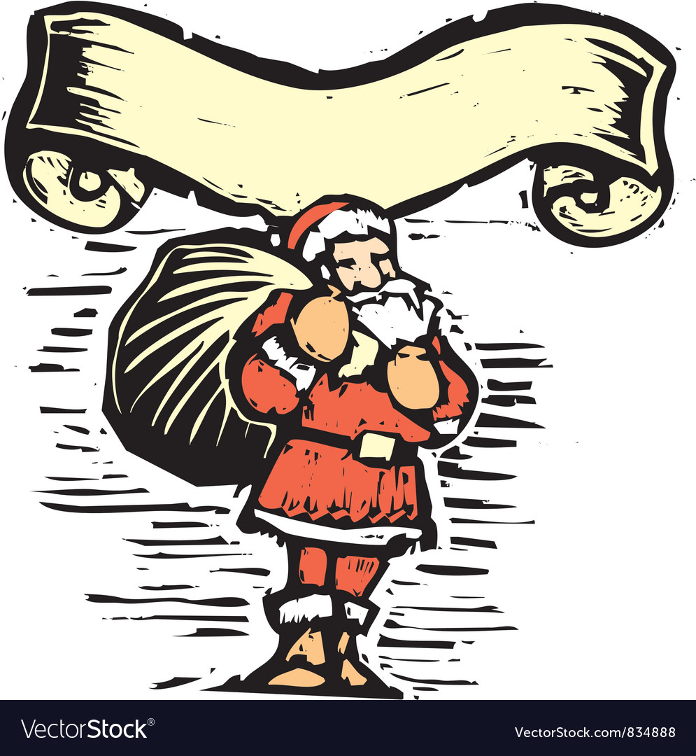 Santa claus scroll vector | Price: 1 Credit (USD $1)