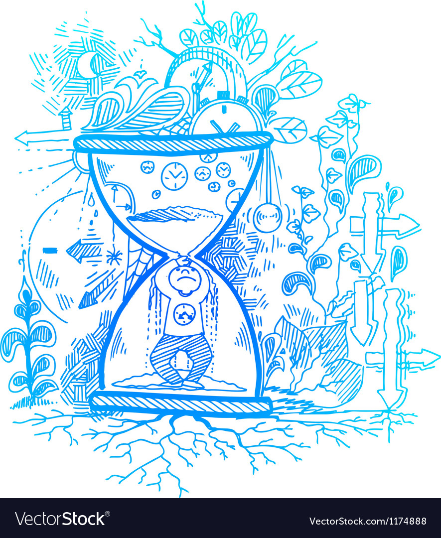 Sketchy doodles about time passing vector | Price: 1 Credit (USD $1)