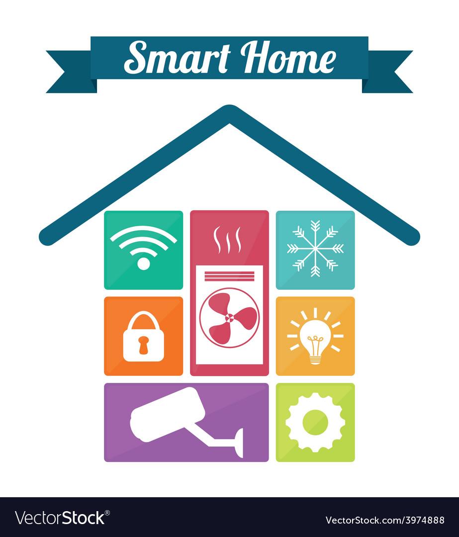 Smart home vector | Price: 1 Credit (USD $1)