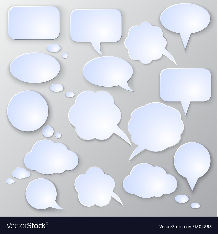 Speech bubble set vector | Price: 1 Credit (USD $1)