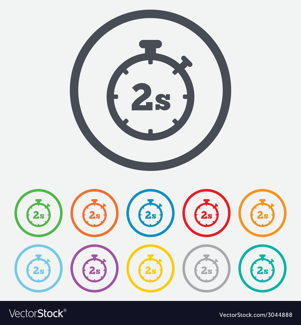Timer 2s sign icon stopwatch symbol vector | Price: 1 Credit (USD $1)