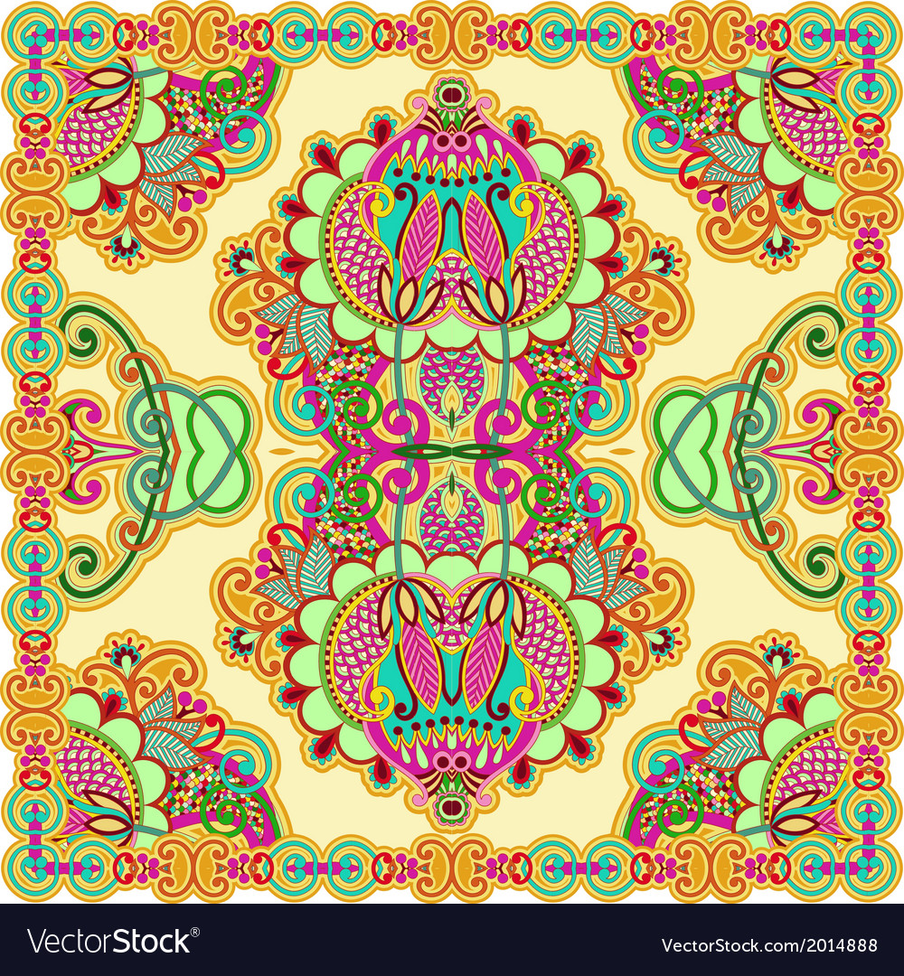 Traditional ornamental floral paisley bandana vector | Price: 1 Credit (USD $1)