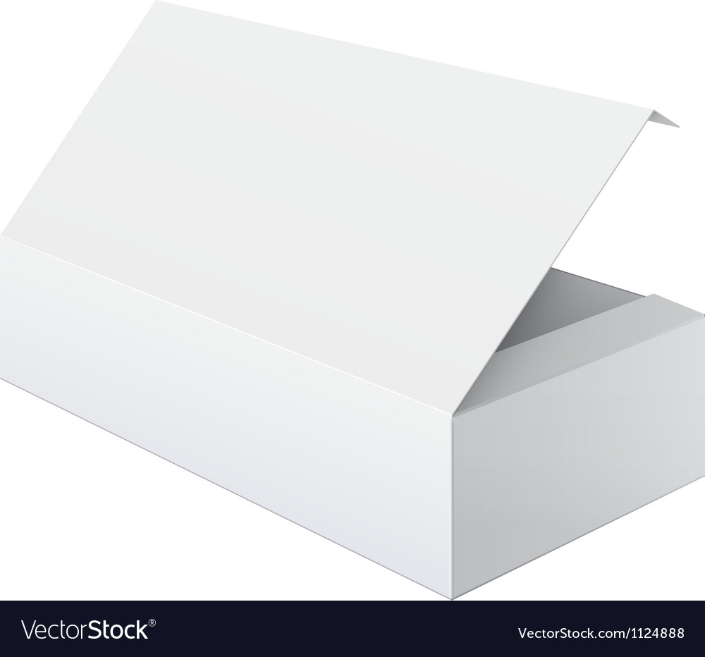 White blank package box opened for electronic vector | Price: 1 Credit (USD $1)