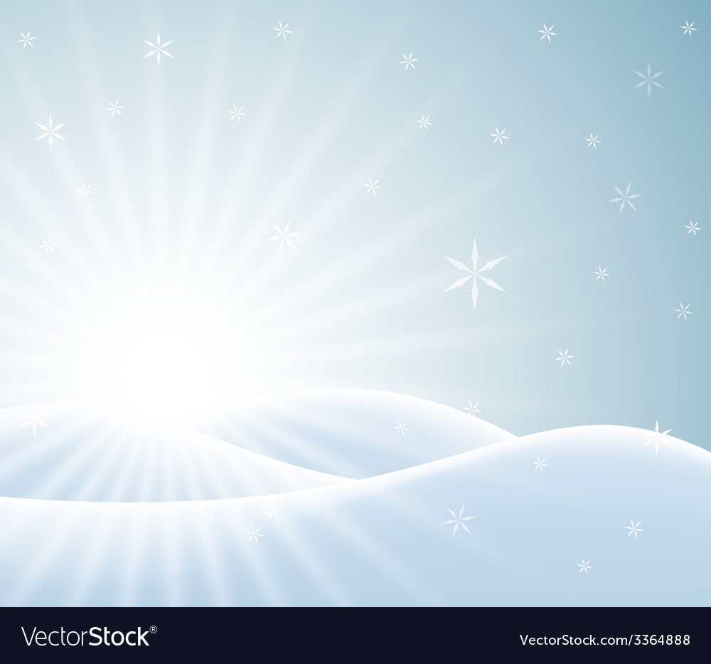 Winter card with snowy landscape vector | Price: 1 Credit (USD $1)