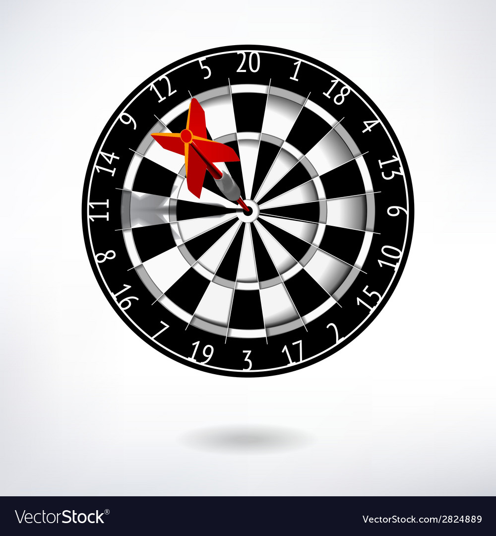 Classic darts board vector | Price: 1 Credit (USD $1)