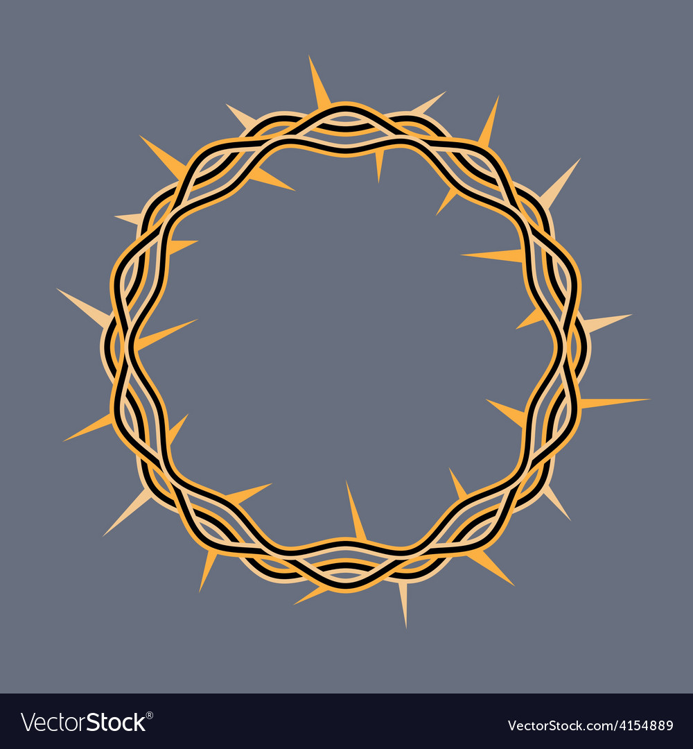 Crown of thorns icon vector | Price: 1 Credit (USD $1)