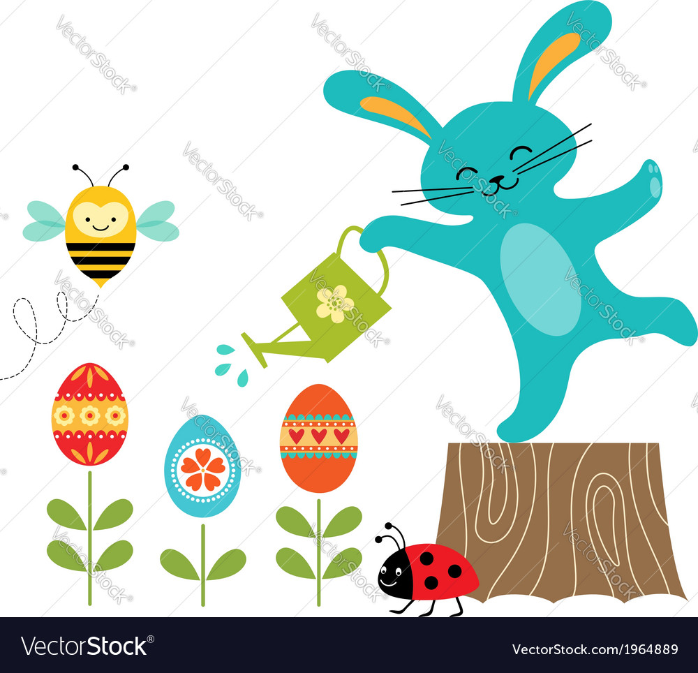 Easter flowers vector | Price: 1 Credit (USD $1)