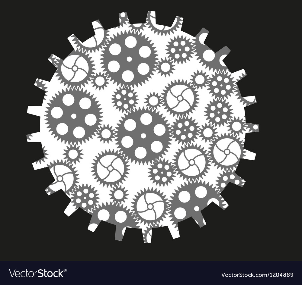 Isolated gears vector | Price: 1 Credit (USD $1)