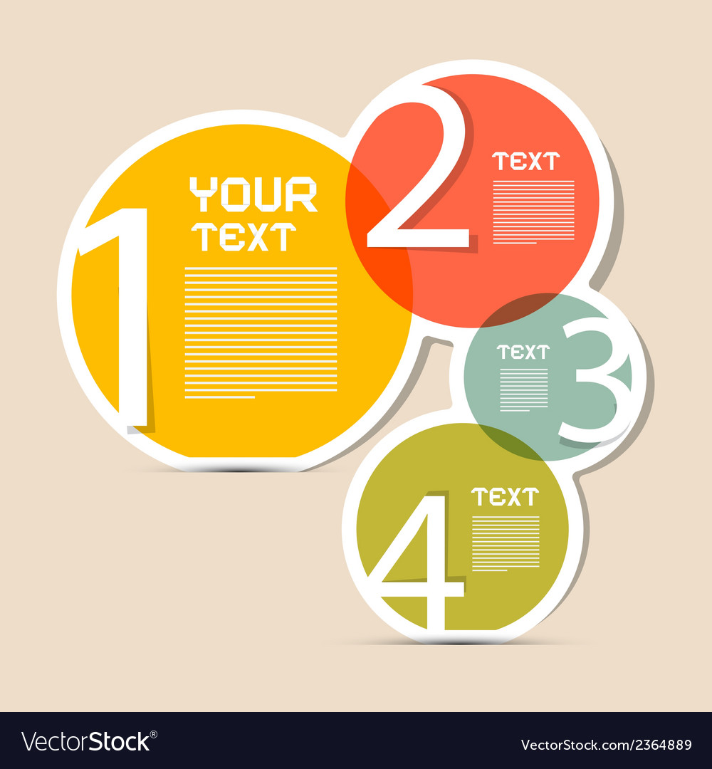 Paper circle infographics layout - template vector | Price: 1 Credit (USD $1)
