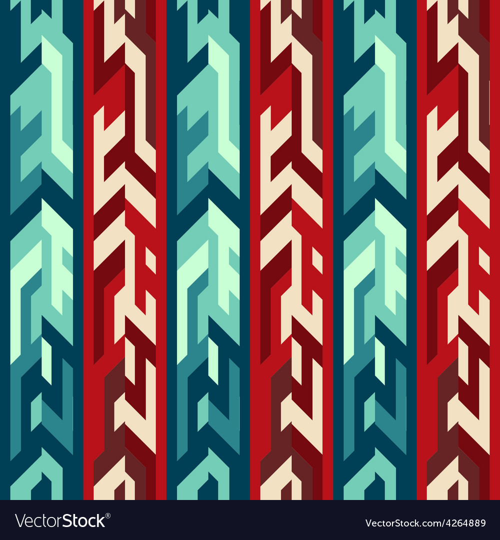 Red totem seamless pattern vector | Price: 1 Credit (USD $1)
