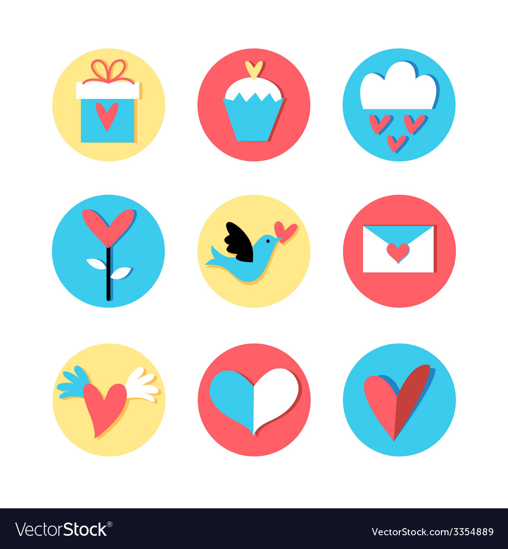 Stok vektor icons valentines vector | Price: 1 Credit (USD $1)