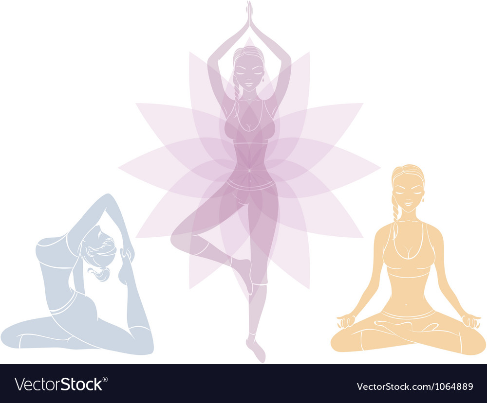 Yoga womans vector | Price: 1 Credit (USD $1)