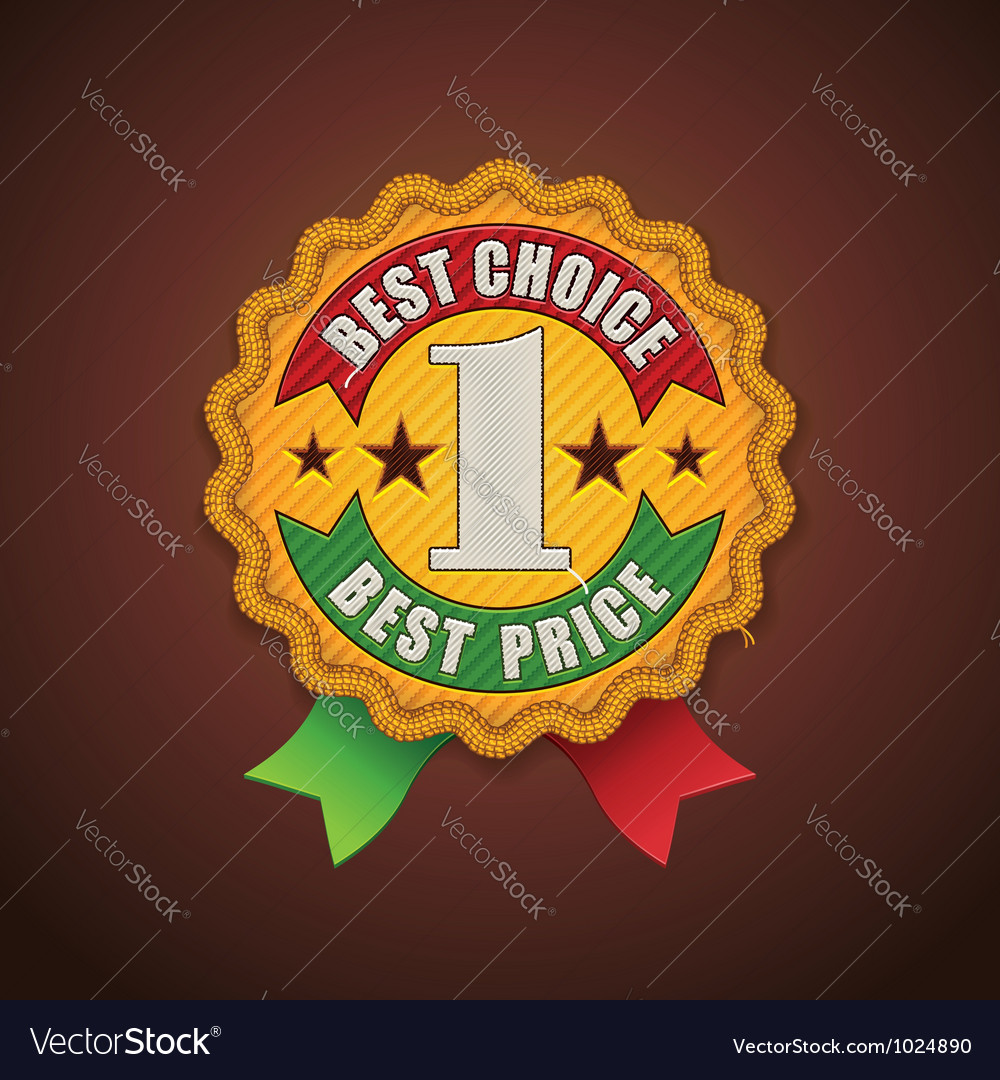 Best choice fabric badge vector | Price: 3 Credit (USD $3)