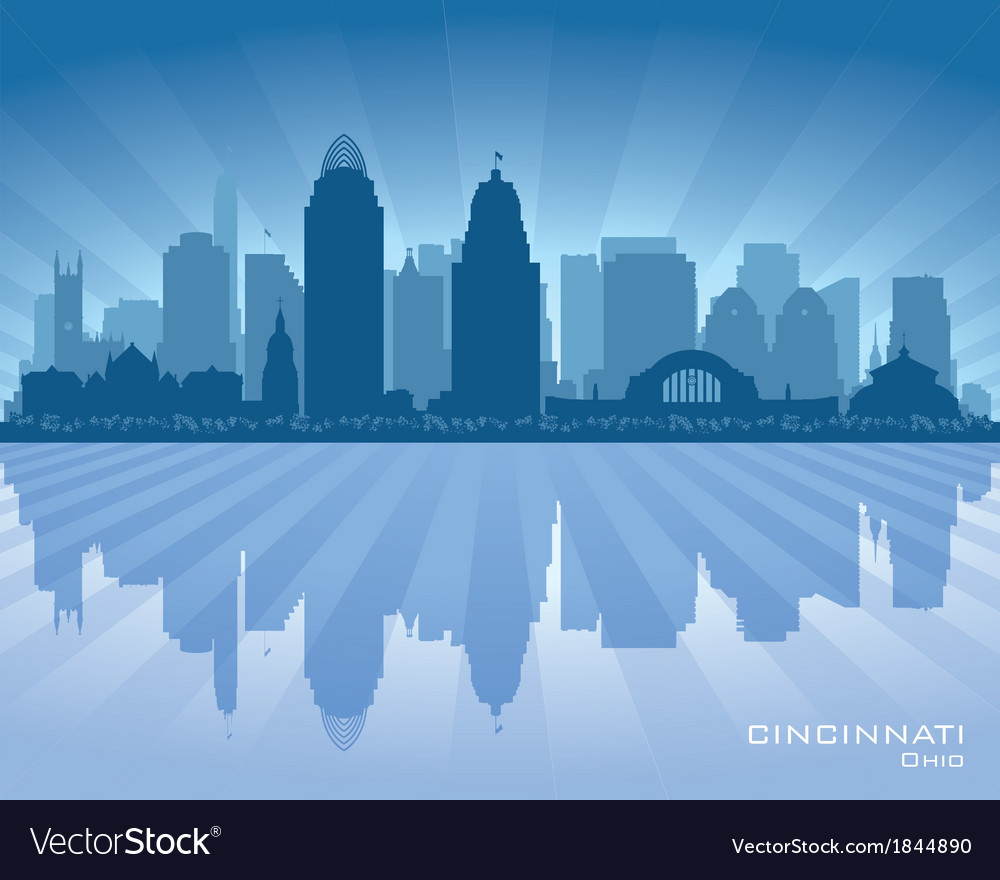 Cincinnati ohio city skyline silhouette vector | Price: 1 Credit (USD $1)