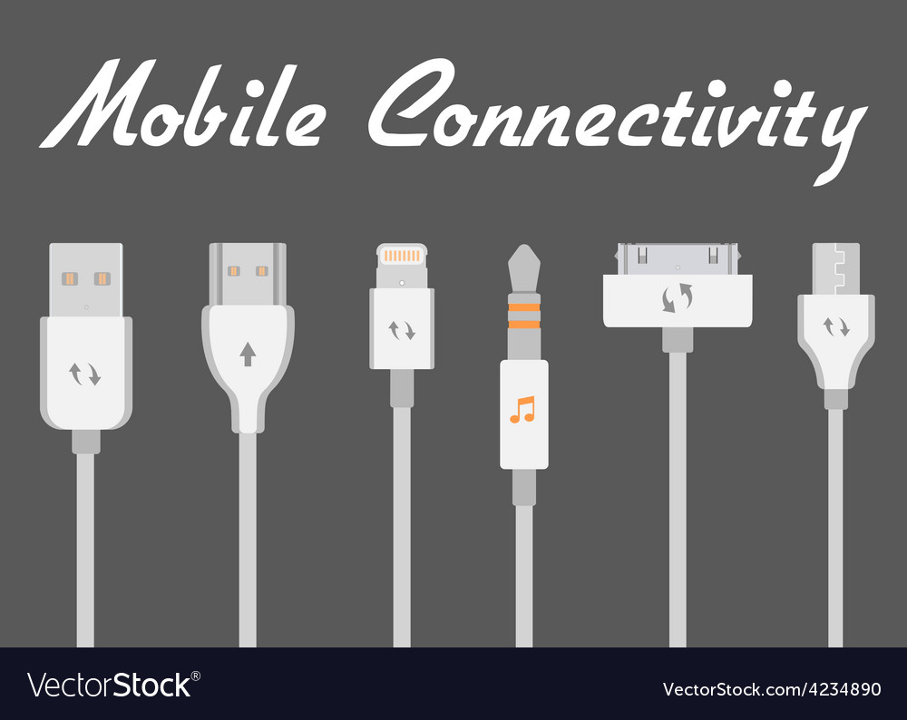 Connectors for mobile devices vector | Price: 1 Credit (USD $1)