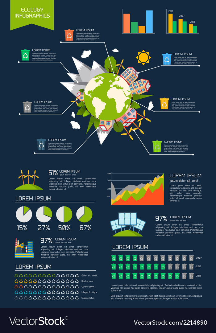 Ecology infographic set vector | Price: 3 Credit (USD $3)