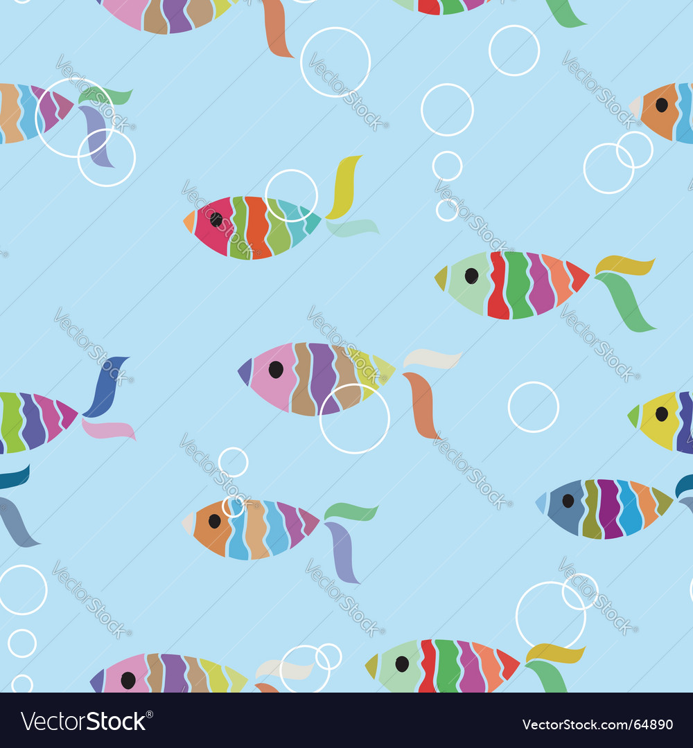 Fish background vector