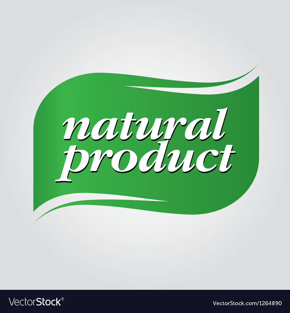 Green natural product brand vector | Price: 1 Credit (USD $1)