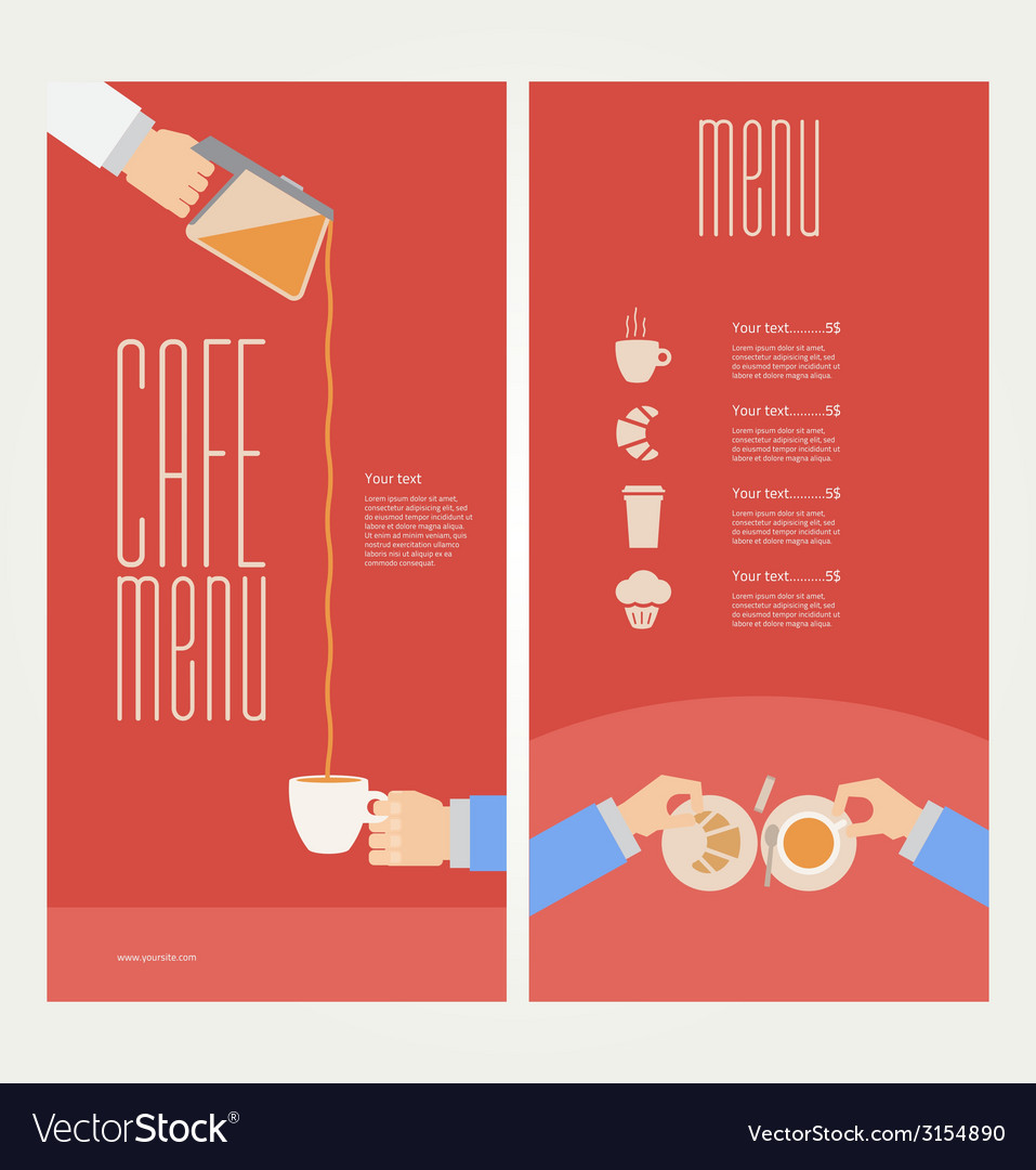 Modern colorful menu vector | Price: 1 Credit (USD $1)