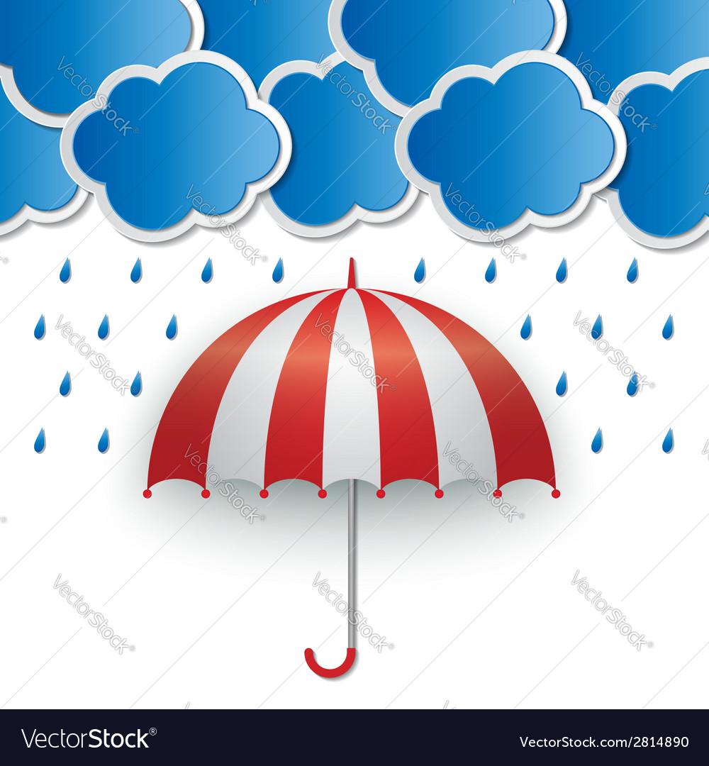 Rainy sky background vector | Price: 1 Credit (USD $1)