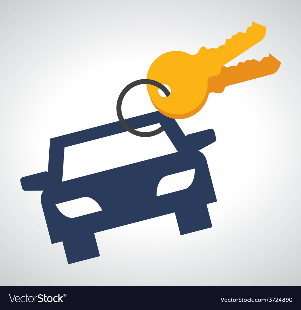 Rent a car vector | Price: 1 Credit (USD $1)