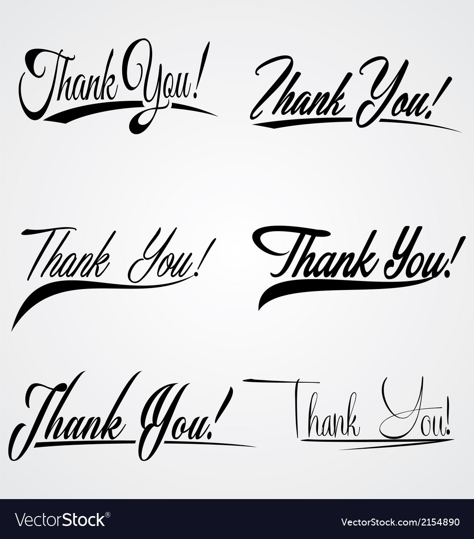 Thank you hand leterring vector | Price: 1 Credit (USD $1)