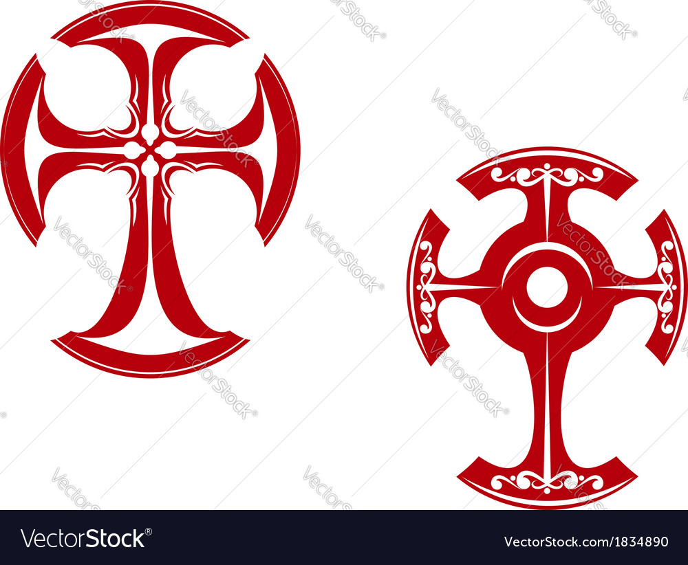 Two stylized crosses vector | Price: 1 Credit (USD $1)
