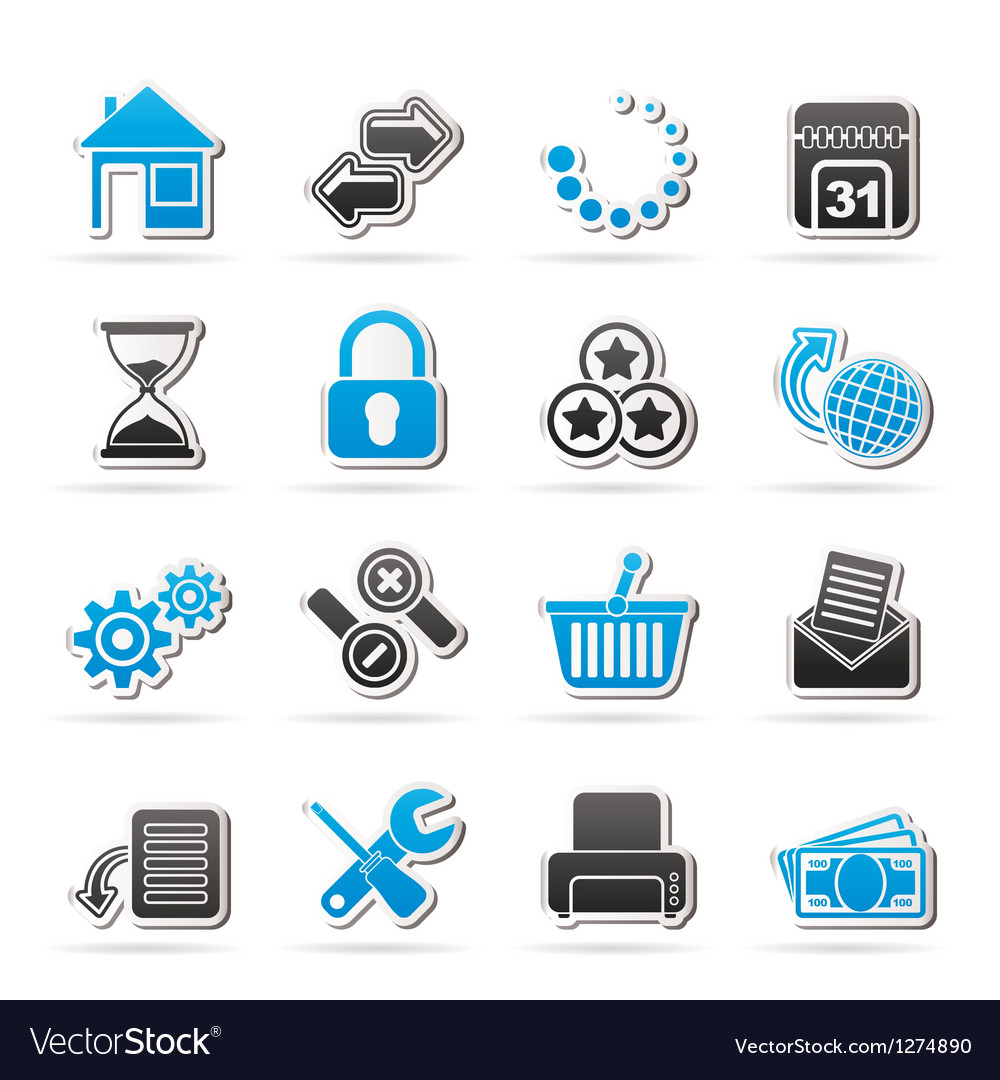 Web site and internet icons vector | Price: 1 Credit (USD $1)