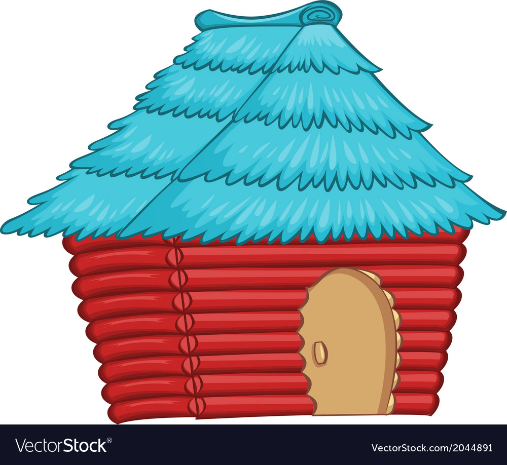 A colourful native house vector | Price: 1 Credit (USD $1)