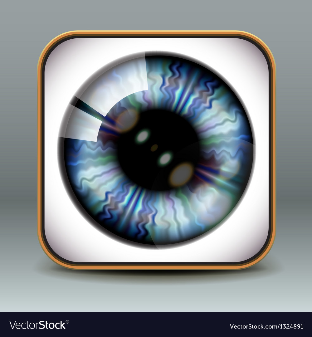 App design eye icon vector | Price: 1 Credit (USD $1)