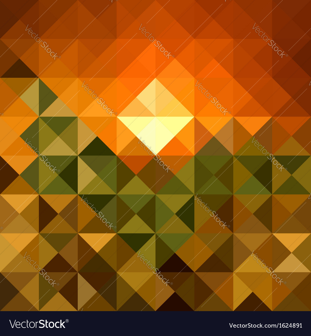 Autumn season triangle seamless pattern background vector | Price: 1 Credit (USD $1)