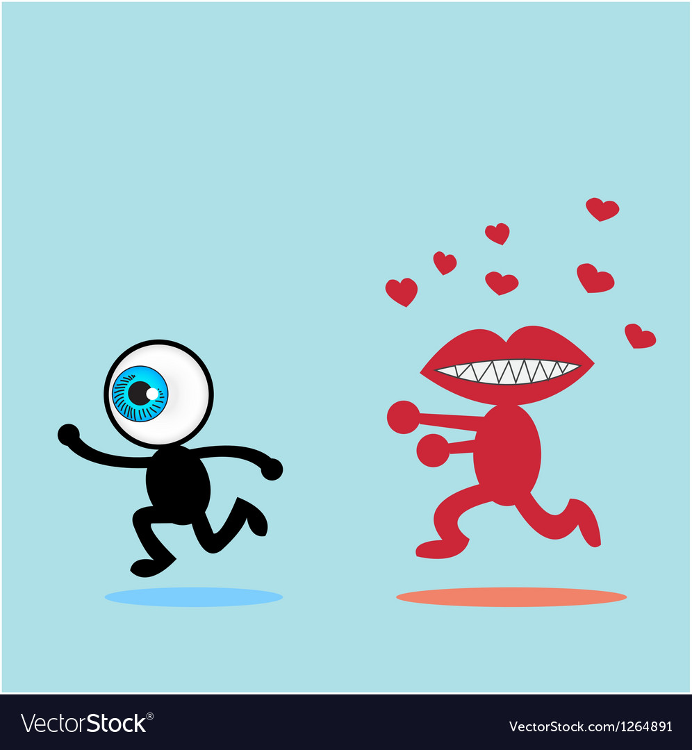 The blue eye runaway the red mouth vector | Price: 1 Credit (USD $1)