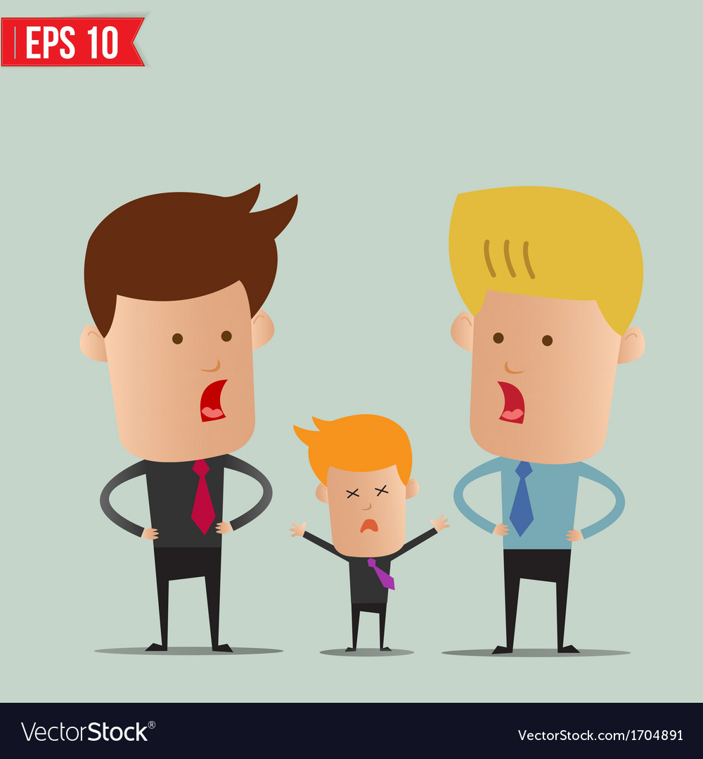 Business man discussion - - eps10 vector | Price: 1 Credit (USD $1)