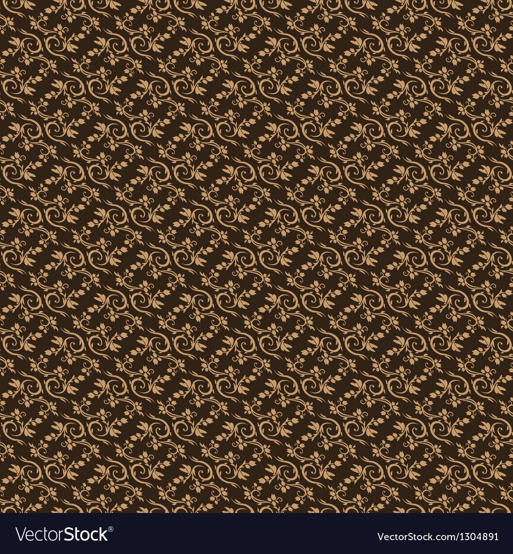 Dark brown colors art nouveau style plant pattern vector   Price: 1 Credit (USD $1)