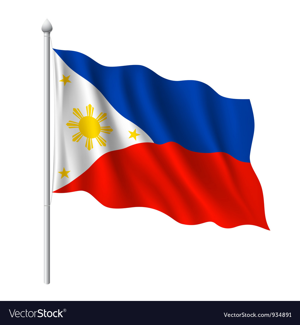 Flag of philippines vector | Price: 1 Credit (USD $1)
