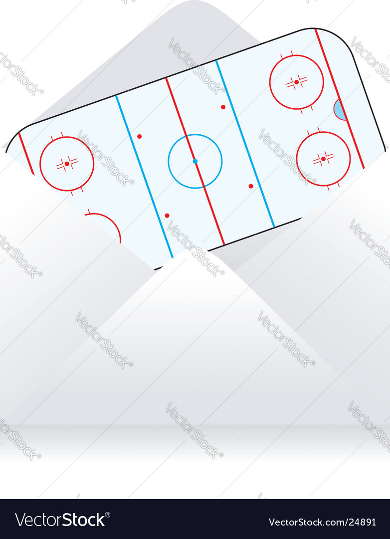 Hockey field vector | Price: 1 Credit (USD $1)