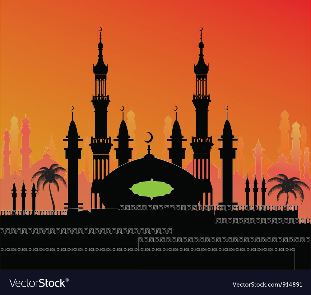 Night eastern city vector | Price: 1 Credit (USD $1)