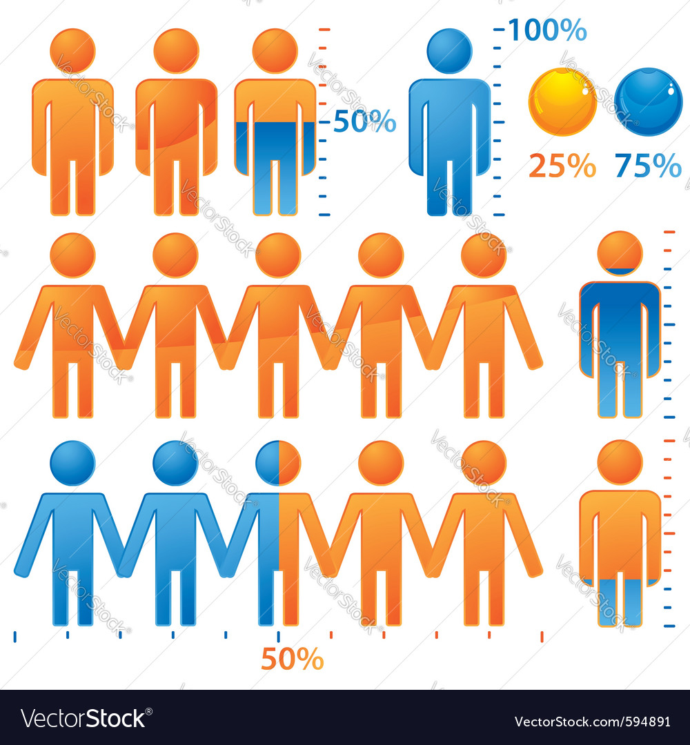 People population icons vector | Price: 1 Credit (USD $1)