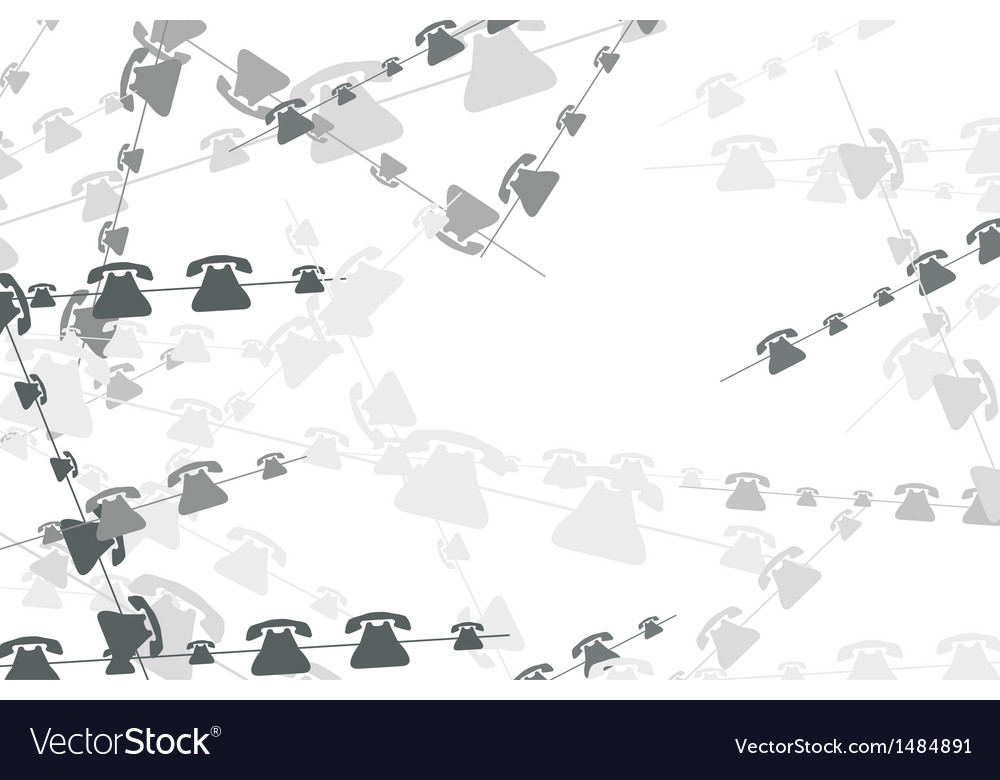 Technology background with telephones vector