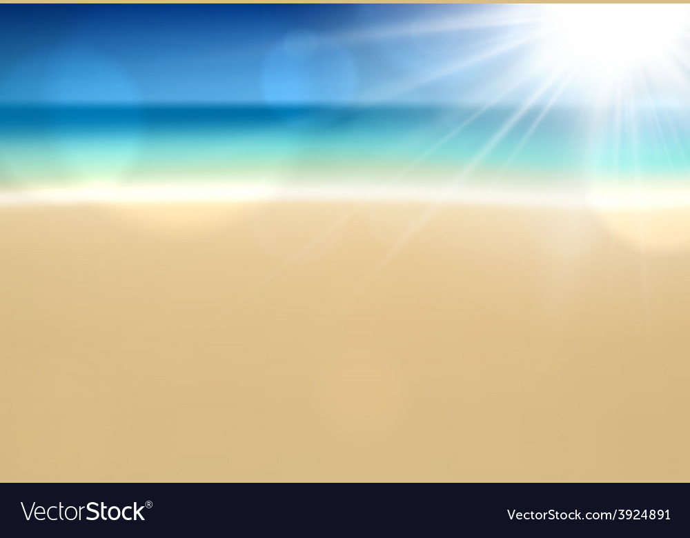 Tropical sunny summer coast vector   Price: 1 Credit (USD $1)