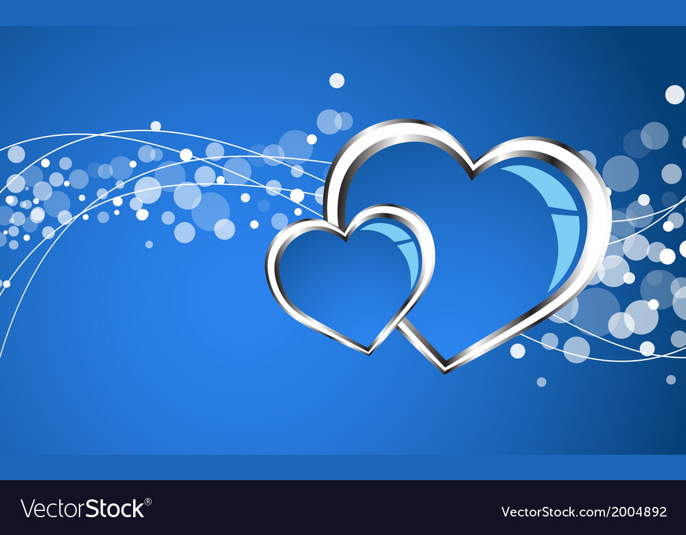 Beautiful blue heart background vector | Price: 1 Credit (USD $1)