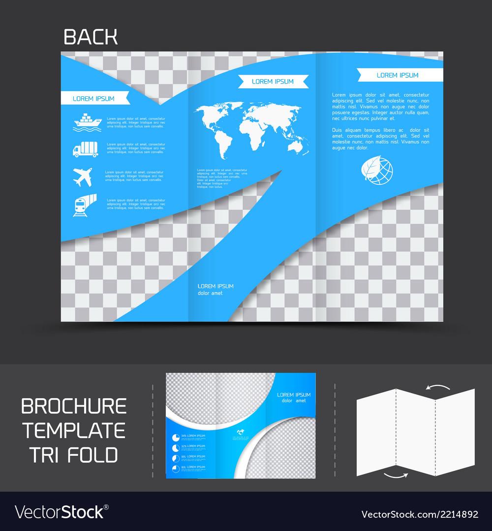 Brochure template tri fold vector | Price: 1 Credit (USD $1)
