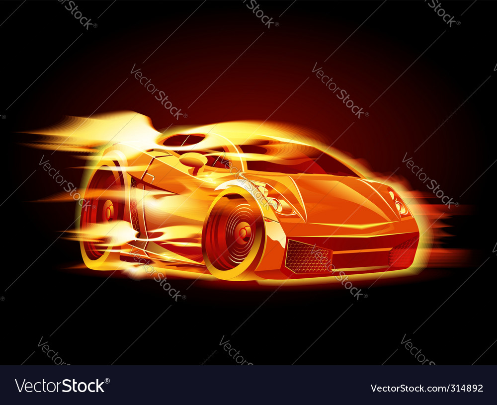 Cartoon sport car vector | Price: 3 Credit (USD $3)