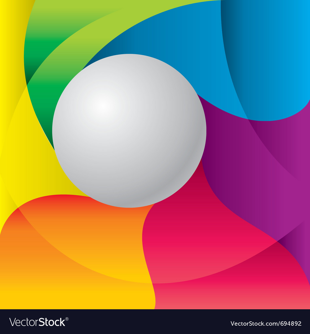 Color background with ball vector | Price: 1 Credit (USD $1)