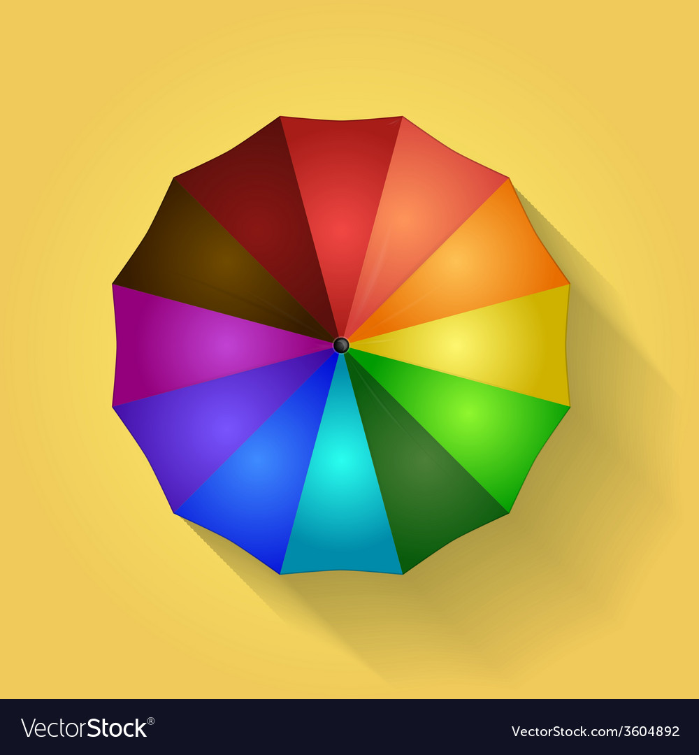 Colored umbrella vector | Price: 1 Credit (USD $1)