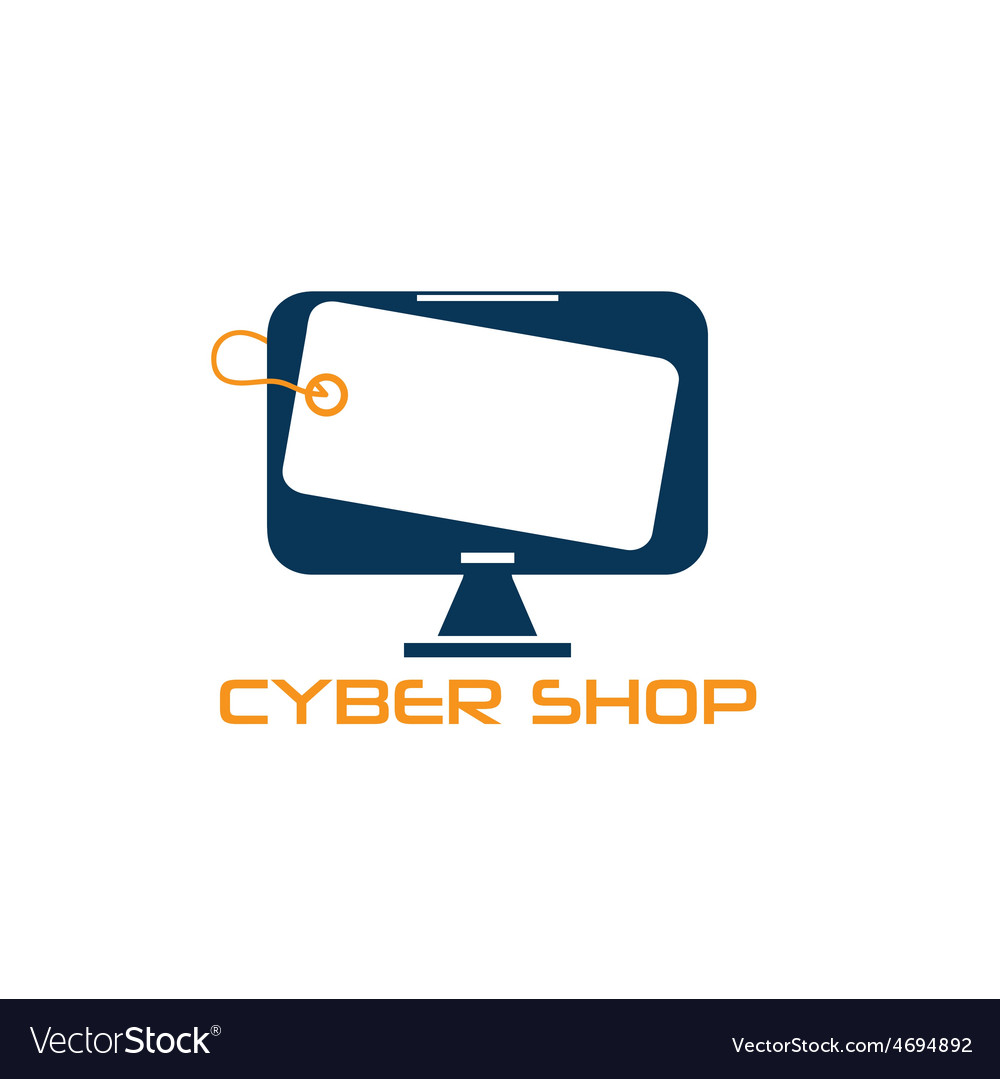Cyber computer shop design template vector | Price: 1 Credit (USD $1)